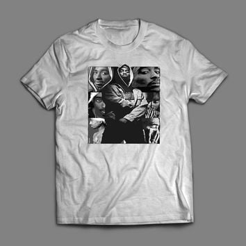 OLD SKOOL RAPPER TUPAC COLLAGE T-SHIRT