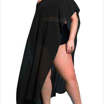 Beach Cover Up Bikini Cover-up - Chiffon- Long Sarong