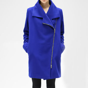 wool women coat women fashion coat long sleeve sleeve coat Apring Autumn Winter --CO101