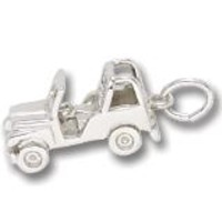 Jeep Charm In 14K White Gold