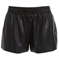 Leatherette Gym Short - Bardot