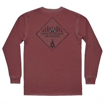 SEAWASH™ Long Sleeve Tent Tee in Crimson by Southern Marsh