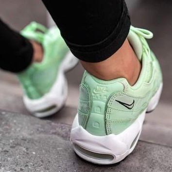 One-nice™ NIKE Fashion Men Running Sport Casual Air max cushion Shoes Sneakers Mint green G-CSXY