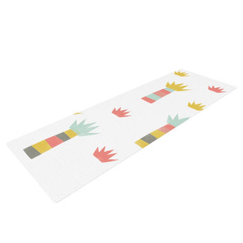 "Alik Arzoumanian ""Tropical"" White Pastel Yoga Mat"