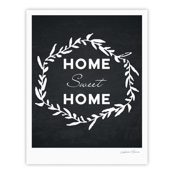 "KESS Original ""Home Sweet Home"" Black White Fine Art Gallery Print"
