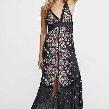 Free People - Sophie Night Blue Multi Print Maxi Dress