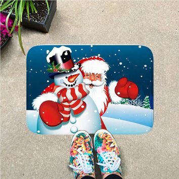 Autumn Fall welcome door mat doormat Comwarm Home Decor Christmas Kitchen  Funny Santa Claus Letter Pattern Anti-Slip Flannel Floor Carpet For Bathroom Cars AT_76_7