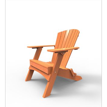 Malibu Outdoor Living Recycled Plastic Hyannis Folding Adirondack Chair