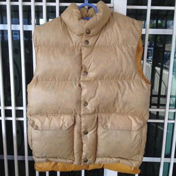Vintage Wrangler Puffer Vest down jacket snap button from