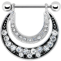 Crystalline Gem Radiant Moon Nipple Shield | Body Candy Body Jewelry
