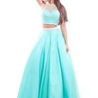 Razor Back Ball Gown Prom Dress By Rachel Allan 6906