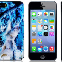 3D Snowy Wolf Print Plastic Protective Case for iPhone 5/5S