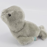 Dakin Stuffed Animal Grey Plush Baby Seal