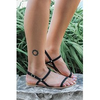 Barcelona Sandals - Black