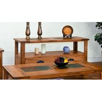 Sunny Designs Sedona Sofa Console Table with Drawers In Rustic Oak