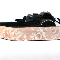 Flowers Camera Strap.dSLR Camera Strap. Floral Camera Strap. Women accessories
