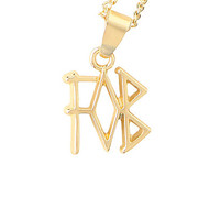 Fall Out Boy FOB Logo Necklace