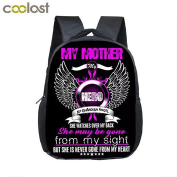 Toddler Backpack class New Design My Mother My Hero Kindergarten Backpack Angle Wing Children School Bags  12 Inch Baby Gift Book Bag AT_50_3