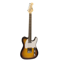 Professional Full Size 6 String Electric Guitar with Sunburst Finish