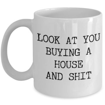 Housewarming Gift New Home Owner Gifts First Time Home Buyer New House Coffee Cup New Home Funny Housewarming Gift Congratulations Mug