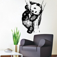 Panda Wall Decals Animals Bear Home Interior Design Art Mural Living Room Decor Vinyl Decal Sticker Kids Nursery Baby Room Decor kk848