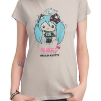 Hatsune Miku X Hello Kitty Girls T-Shirt
