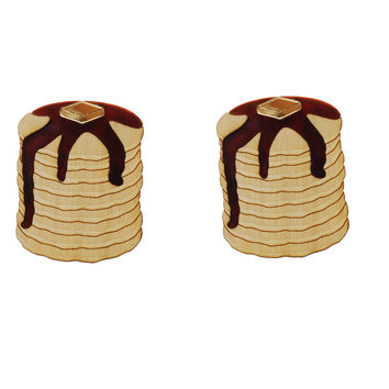 XL Pancake Stack Earrings
