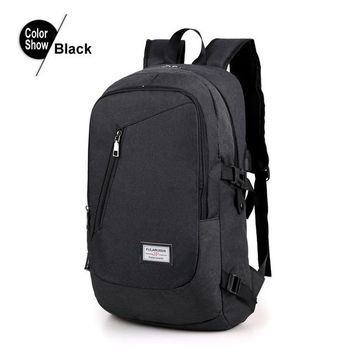 Student Backpack Children New Arrivals 4 Colors USB Design Backpack Men Student Backpack Weekend Mochila Male Waterproof Anti Theft Bags Laptop Backpacks AT_49_3