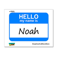 Noah Hello My Name Is Sticker