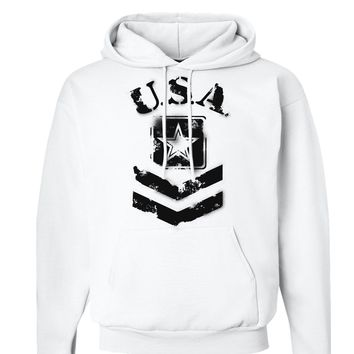 USA Military Army Stencil Logo Hoodie Sweatshirt