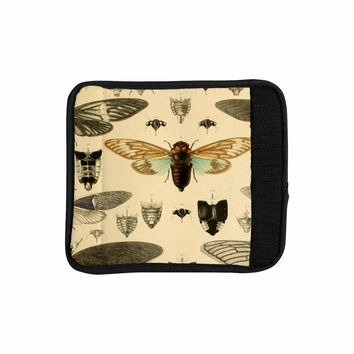 "Suzanne Carter ""Vintage Cicada"" Bugs Pattern Luggage Handle Wrap"