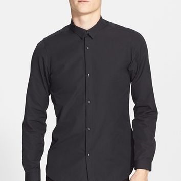 Men's The Kooples Trim Fit Cotton Faille Shirt,
