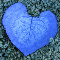 One of a kind Concrete Leaf, Hand painted leaf, Yard art, Patio decor, Purple concrete leaf