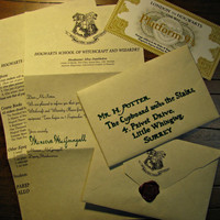 Custom Harry Potter Handwritten Hogwarts Acceptance Letter and list of requirements with Hogwarts Express Ticket and FREE Hogwarts ID card