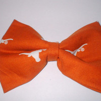 University of Texas Long Horns Handmade Hair Bow Hair Accessory Hair Clip