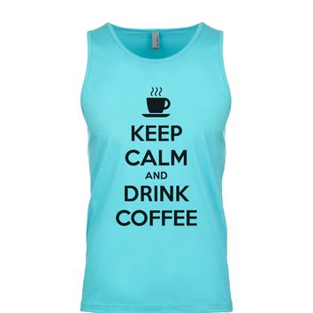 Keep Calm And Drink Coffee Men's Tank