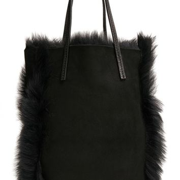 Pedro Garcia 'North South' Genuine Lambskin Shearling Tote