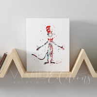 Cat in the Hat, Dr. Seuss Gallery Wrapped Canvas