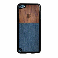Wood Faux Denim Case iPod Touch 5th Generation Case