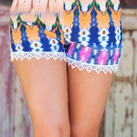 Watercolor Shorts