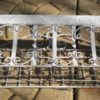 Vintage French Shabby Wire Metal Wall Planter, Ornate Scrolls