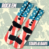 Stars & Bars Custom Nike Elite Socks | Rock 'Em Apparel