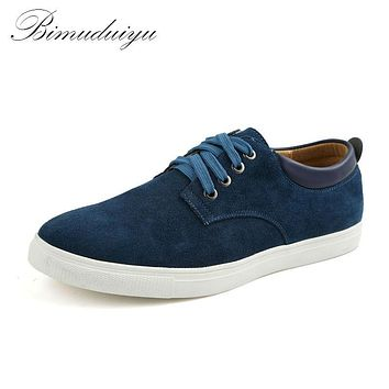 Spring Autumn Winter Frosted Suede Men's flat Casual Shoes Leisure Lightweight Daily Sneakers Driving Shoes