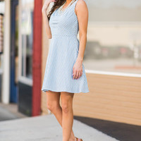 Precious By Virtue Dress, Sky Blue