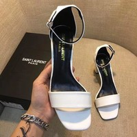 SaintLaurent YSL Fashion and leisure high heels