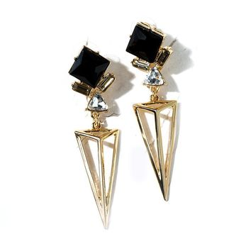 Dianna Triangle Stud Earrings
