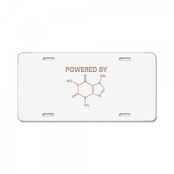 Powered By Caffeine Molecule License Plate