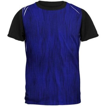 CREYCY8 Halloween Peacock Feathers Costume All Over Mens Black Back T Shirt