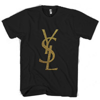 yves saint laurent gold T Shirt Men