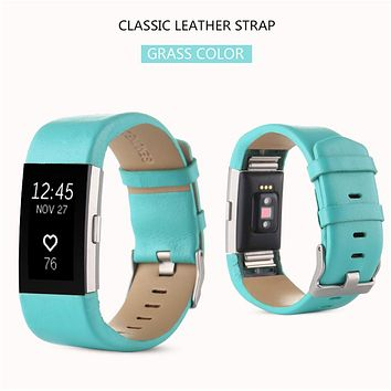 DATA NEW ! Best Price Fashion Sports Genuine Leather Watch Band Strap For Fitbit Charge 2 Wrist Band Bracelet TOP quality 2mar6